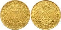 10 Mark Gold 1909  A Lübeck  Kratzer, sehr schön  2000,00 EUR envoi gratuit