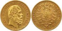 20 Mark Gold 1873  F Württemberg Karl 1864-1891. Sehr schön +  375,00 EUR envoi gratuit