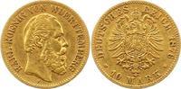 10 Mark Gold 1876  F Württemberg Karl 1864-1891. Sehr schön  225,00 EUR  + 4,00 EUR frais d'envoi