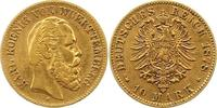 10 Mark Gold 1878  F Württemberg Karl 1864-1891. Sehr schön  235,00 EUR  + 4,00 EUR frais d'envoi