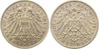 2 Mark 1906  A Lübeck  Randfehler, sehr schön +  150,00 EUR  + 4,00 EUR frais d'envoi
