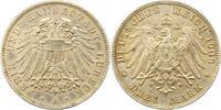3 Mark 1908 Lübeck  Fast vorzüglich  165,00 EUR  + 4,00 EUR frais d'envoi