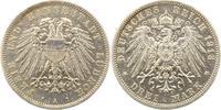 3 Mark 1913 Lübeck  Winz. Randfehler, vorzüglich  165,00 EUR  + 4,00 EUR frais d'envoi