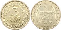 3 Mark 1932  D Weimarer Republik  Fast vorzüglich  385,00 EUR envoi gratuit