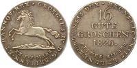 16 Gute Groschen 1826 Braunschweig-Calenberg-Hannover Georg IV. 1820-18... 75,00 EUR  + 4,00 EUR frais d'envoi