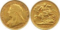 1/2 Sovereign Gold 1896 Großbritannien Victoria 1837-1901. Sehr schön  185,00 EUR  + 4,00 EUR frais d'envoi
