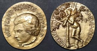 goldmedaille 1956 salzburg - mozart 200. g...