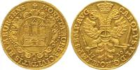 Dukat 1730 Hamburg, Freie und Hansestadt mit Titel Kaiser Karls VI. Pra... 2500,00 EUR free shipping