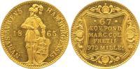 Dukat 1865 Hamburg, Freie und Hansestadt  wz. Kratzer, Stempelglanz-  750,00 EUR  +  12,50 EUR shipping