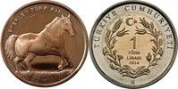 """1 Lira 2014 Türkei - Turkey Pferd - """"Byerley Turk"""" unzirkuliert  5,00 EUR  zzgl. 4,50 EUR Versand"""
