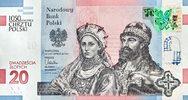 20 Zlotych VORVERKAUF 2015 Polen Polska Gedenk - Banknote: 1050 Jahre C... 29,00 EUR  zzgl. 4,50 EUR Versand