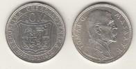 10 Kronen 1928 CSR - Tschechoslowakei Gedenkmünze Tomas G. Masaryk Stgl.  9,00 EUR  zzgl. 4,50 EUR Versand