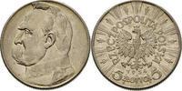 5 Zloty 1934 Polen - Poland - Polska Umlaufmünze Pilsudski vorzüglich!  12,00 EUR