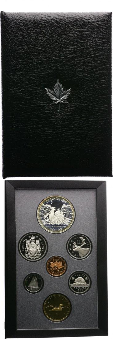 Kursmünzensatz incl 1 Dollar Mackenzie River Kanada 2,91 Dollar 1989