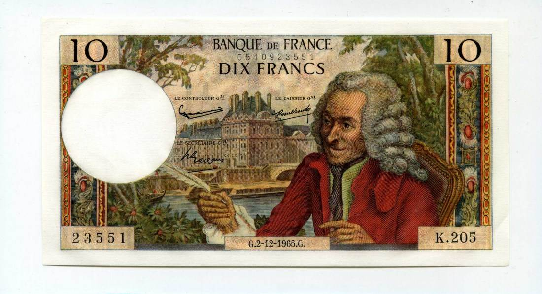 Frankreich, 10 Francs, 1965,