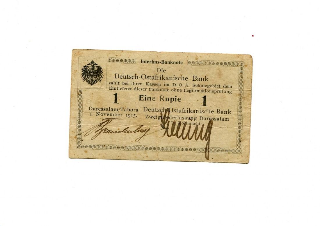 Deutsch Ostafrika, 1 Rupie, 1 Nov 1915,