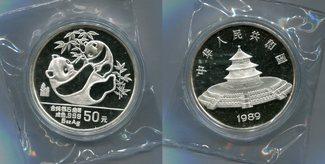 50 Yuan 1989 China, 5 Unzen-Panda, PP