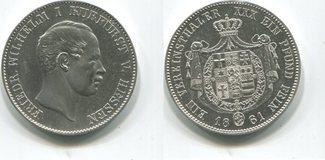 Taler 1861 Hessen Kassel, Friedrich Wilhel...