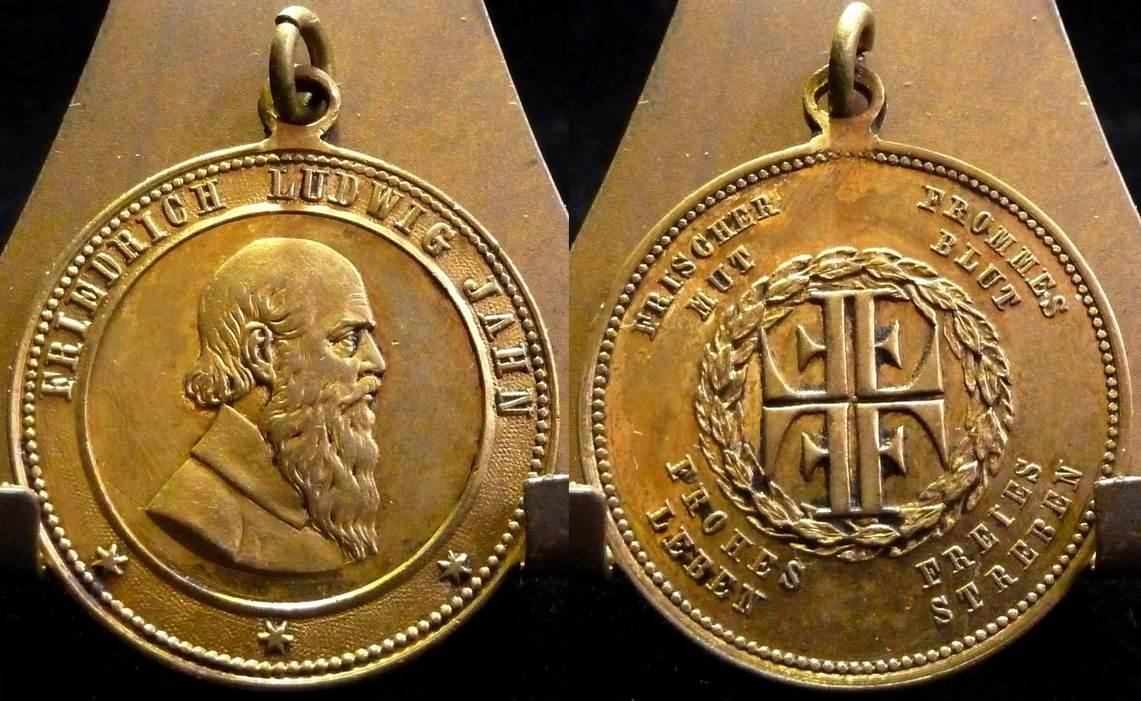 ~ Friedrich Ludwig Jahn Kaiserreich Bronze Medaille o J