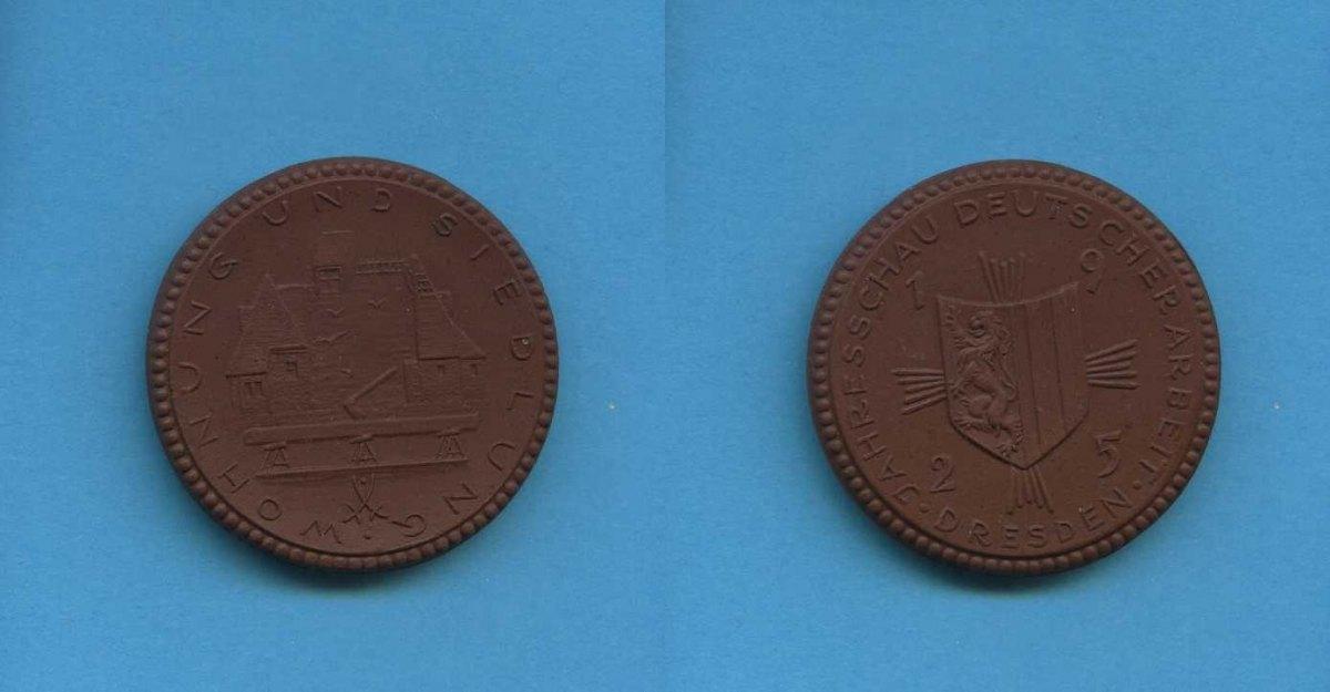 porzellan medaille 1925 deutsches reich dresden wohnung u siedlung jahresschau deutscher. Black Bedroom Furniture Sets. Home Design Ideas