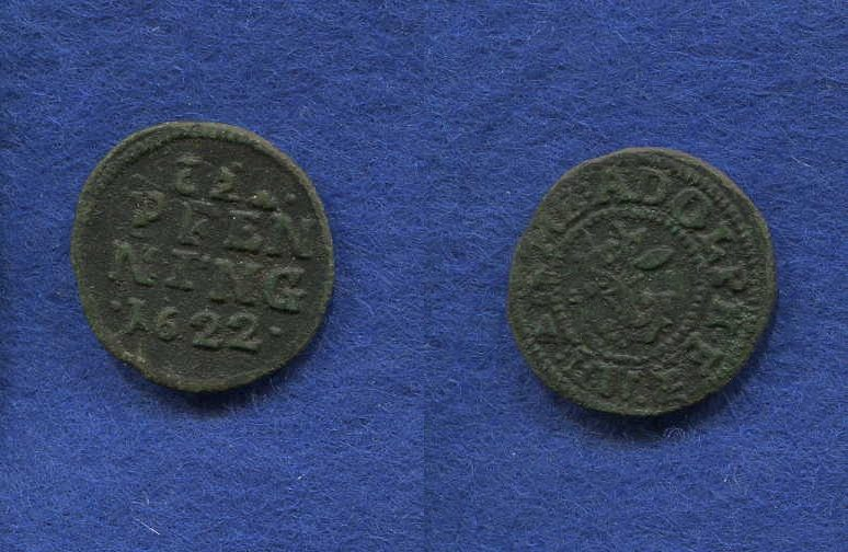 Adolf Friedrich I 1610-1658, Mecklenburg, 3 Pfennig, 1622,