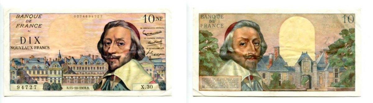 Frankreich, 10 Francs, 1959,
