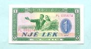 1 Lek 1976 Albanien/Albania,  Unc  1.67 US$ 1,50 EUR  +  7.78 US$ shipping
