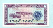 5 Leke 1976 Albanien/Albania,  Unc  2.22 US$ 2,00 EUR  +  7.78 US$ shipping