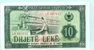 10 Leke 1976 Albanien/Albania,  Unc  3.34 US$ 3,00 EUR  +  7.78 US$ shipping