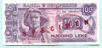 100 Leke 1993 Albanien/Albania, Spezimen, Unc  16.68 US$ 15,00 EUR  +  7.78 US$ shipping