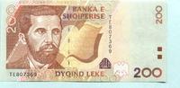 200 Leke 2001 Albanien/Albania,  Unc  5.56 US$ 5,00 EUR  +  7.78 US$ shipping