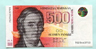 500 Markkaa 1986(1991) Finnland,  I  349,00 EUR  zzgl. 5,00 EUR Versand