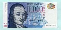 1000 Markkaa 1986(1991) Finnland,  I  420,00 EUR  zzgl. 5,00 EUR Versand
