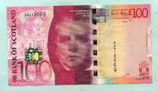 100 Pounds 2007 Schottland,  Unc  299,00 EUR  zzgl. 5,00 EUR Versand