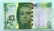 50 Pounds 2007 Schottland,  Unc  179,50 EUR  zzgl. 5,00 EUR Versand