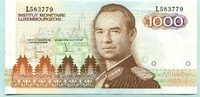 1000 Francs (1985) Luxemburg,  I  90,00 EUR  zzgl. 5,00 EUR Versand