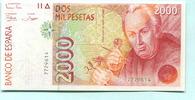 2000 Pesetas 1992 Spanien,  I  39,50 EUR  zzgl. 5,00 EUR Versand