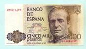 5000 Pesetas 1979(1982) Spanien,  I  110,00 EUR  zzgl. 5,00 EUR Versand