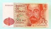 2000 Pesetas 1980(1983) Spanien,  I  50,00 EUR  zzgl. 5,00 EUR Versand