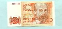 200 Pesetas 1980(1984) Spanien,  I  9,50 EUR  zzgl. 5,00 EUR Versand