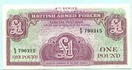 "1 Pound (1962) Großbritannien, ""British Armed Forces"" Unc  2.20 US$ 2,00 EUR  +  7.70 US$ shipping"