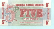 "5 New Pence (1972) Großbritannien, ""British Armed Forces"" Unc  2.20 US$ 2,00 EUR  +  7.70 US$ shipping"
