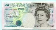 5 Pounds (1991-98) Großbritannien,  Unc  19.79 US$ 18,00 EUR  +  7.70 US$ shipping