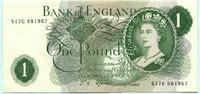 1 Pound (1966-70) Großbritannien,  II  10.45 US$ 9,50 EUR  +  7.70 US$ shipping