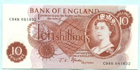 10 Schillings (1966-70) Großbritannien,  Unc  13.19 US$ 12,00 EUR  +  7.70 US$ shipping