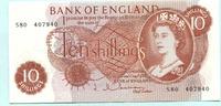 10 Schillings (1962-66) Großbritannien,  Unc  14.29 US$ 13,00 EUR  +  7.70 US$ shipping