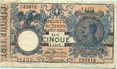 5 Lire 1904(1918) Italien,  III  32.98 US$ 30,00 EUR  +  7.70 US$ shipping