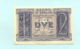2 Lire 1939 Italien,  Unc  16.49 US$ 15,00 EUR  +  7.70 US$ shipping