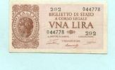 1 Lira 1944 Italien,  III  4.40 US$ 4,00 EUR  +  7.70 US$ shipping