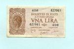 1 Lira 1944 Italien,  II-III  4.40 US$ 4,00 EUR  +  7.70 US$ shipping